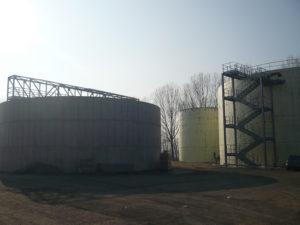 Carpenteria meccanica montata negli impianti biogas